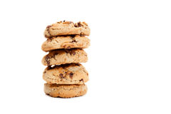 Stack of chocolate chip cookies Royalty Free Stock Images