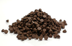 Stack of Chocolate Chips. A pile a delicious chocolate chips ready to eat or stick in cookies Royalty Free Stock Image