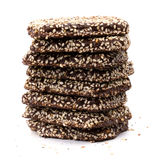 Stack of chocolate cookies Stock Photos