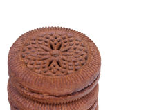 Stack of chocolate cookies Royalty Free Stock Photos