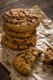 Stack of chocolate cookies Royalty Free Stock Images