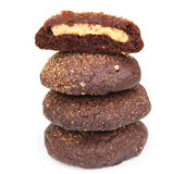 Stack of chocolate cookies royalty free stock image