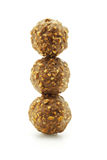 Stack of chocolate nut balls Stock Photography
