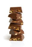 Stack of chocolate pieces Stock Photos