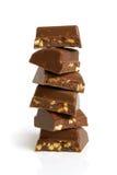 Stack of chocolate pieces Stock Photos