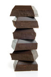 Stack of chocolate pieces Stock Photo