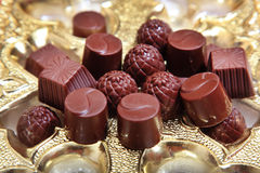 Stack of chocolate sweets Stock Image