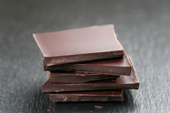 Stack of chocolate thin pieces Royalty Free Stock Photos