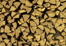 Stack of chopped fire wood Royalty Free Stock Photos
