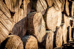 Stack of chopped fire wood Stock Photo