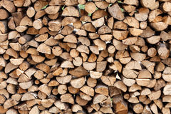 Stack of chopped fire wood Royalty Free Stock Photography
