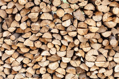 Stack of chopped fire wood Stock Photos