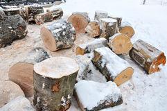 Stack of chopped fire woods Royalty Free Stock Image