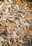 Stack of chopped firewood Stock Image