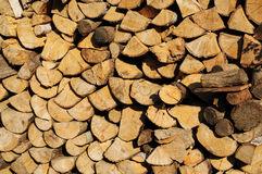 Stack of chopped firewood Royalty Free Stock Photo