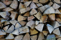 Stack of chopped firewood Stock Photos