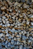 Stack of chopped firewood Stock Photography