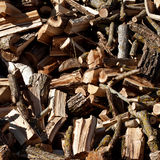 Stack of chopped firewood. Royalty Free Stock Image