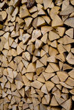 Stack of chopped wood Royalty Free Stock Photos