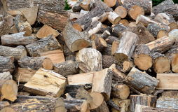 Stack of chopped wood Royalty Free Stock Images