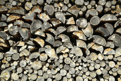 Stack of chopped wood Royalty Free Stock Image