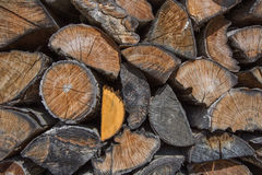 Stack of chopped  wood for fire Royalty Free Stock Photo