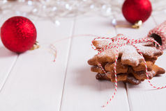 Stack of Christmas cookes Stock Image