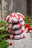 Stack of Christmas cookies Royalty Free Stock Photos