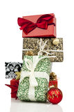 Stack of christmas gifts Royalty Free Stock Image
