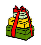 Stack of Christmas gifts Royalty Free Stock Images