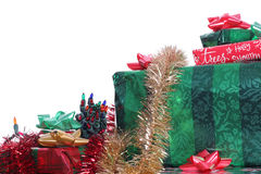 Stack of Christmas Presents. Shot of a Stack of Christmas Presents Royalty Free Stock Photo