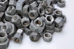 Stack chrome nuts Royalty Free Stock Photos