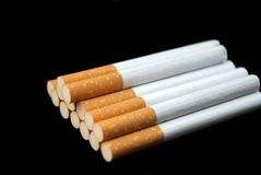 A stack of cigarettes Stock Photography