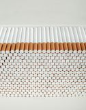 Stack of Cigarettes Royalty Free Stock Photography