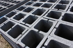 Stack of cinder blocks Royalty Free Stock Photos