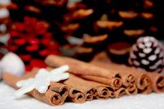 Stack of cinnamon. Stock Image