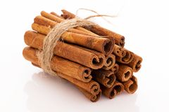 Stack of cinnamon Royalty Free Stock Photography