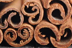 Stack of cinnamon sticks Royalty Free Stock Photography