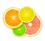 Stack of citrus fruit slices. Stock Images
