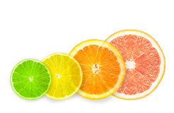 Stack of citrus fruit slices. Royalty Free Stock Photography