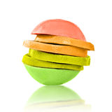 Stack of citrus mixed slices Royalty Free Stock Image