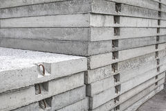 Stack of classical concrete road panels. Stock Photography