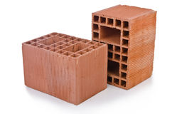 Stack of clay bricks Royalty Free Stock Image