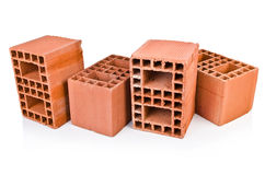 Stack of clay bricks Royalty Free Stock Images