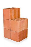 Stack of clay bricks Stock Images