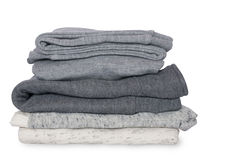 Stack of clean clothes for children Royalty Free Stock Photos