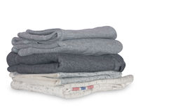 Stack of clean clothes Stock Image
