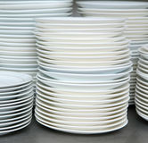 Stack of clean dishes and plates Royalty Free Stock Photography