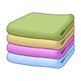 A stack of clean linen.Suhaya cleaning single icon in cartoon style  Stock Images