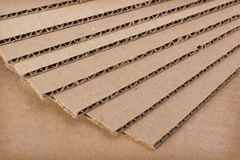 Stack of clean new blades of cardboard Royalty Free Stock Image